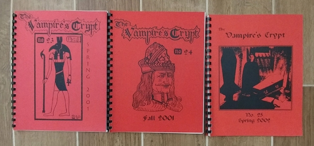 Issues of The Vampire's Crypt featuring stories from Vampires of the Scarlet Order